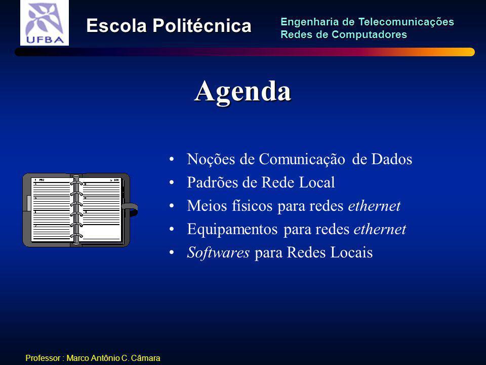 Agenda Noções de Comunicação de Dados Padrões de Rede Local