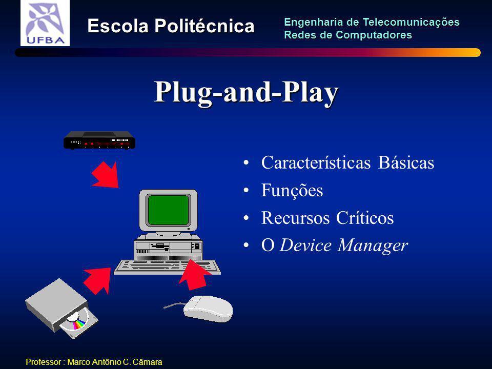 Plug-and-Play Características Básicas Funções Recursos Críticos