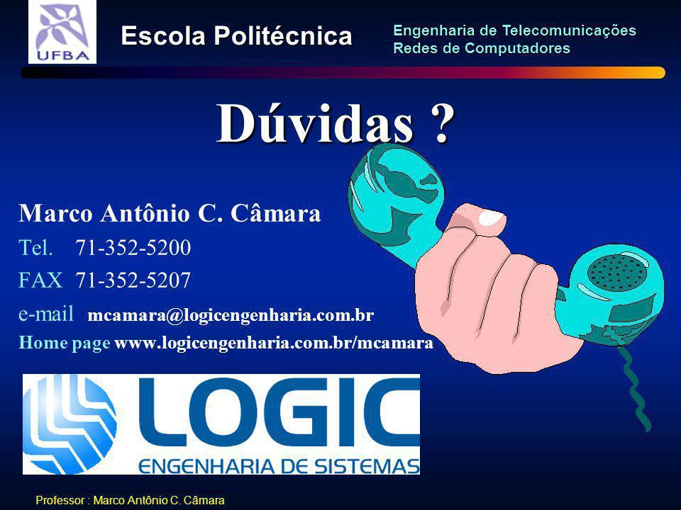 Dúvidas Marco Antônio C. Câmara Tel. 71-352-5200 FAX 71-352-5207