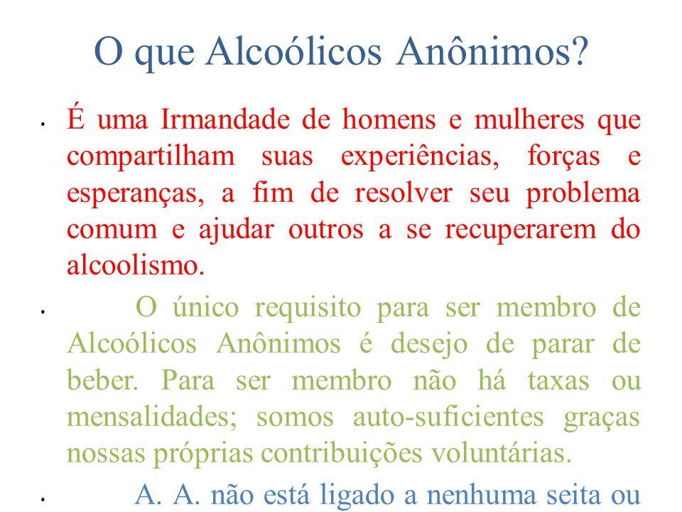 O que Alcoólicos Anônimos