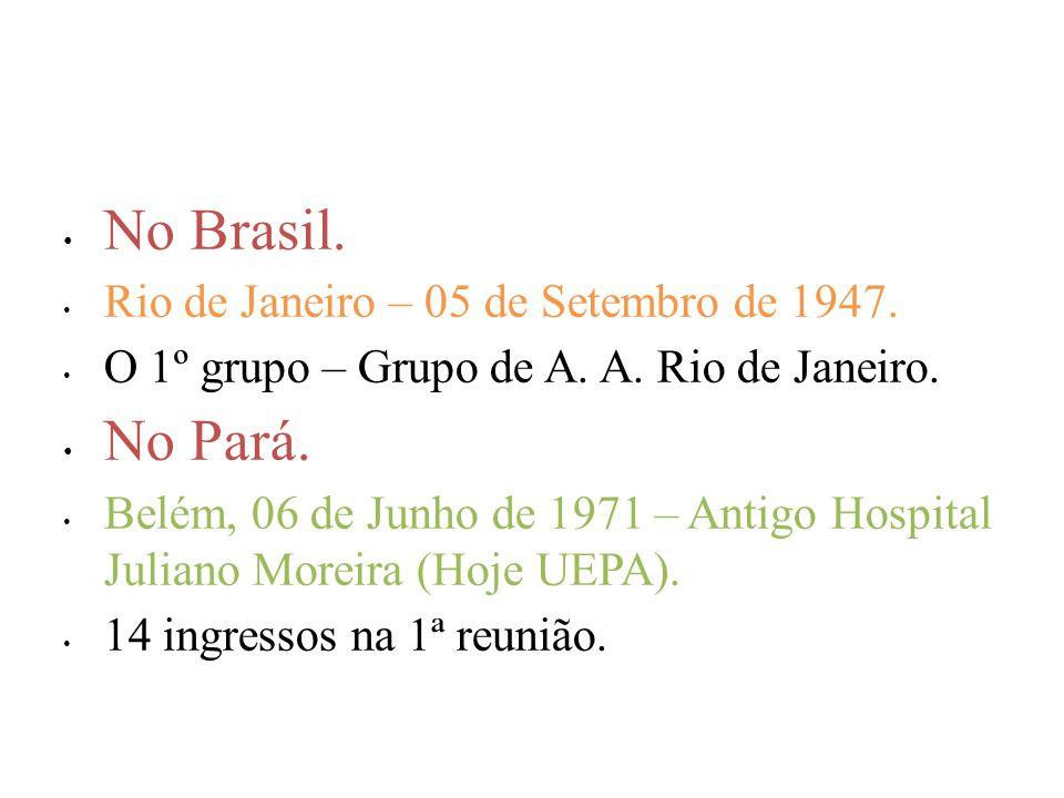 No Brasil. No Pará. Rio de Janeiro – 05 de Setembro de 1947.