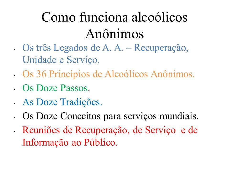 Como funciona alcoólicos Anônimos