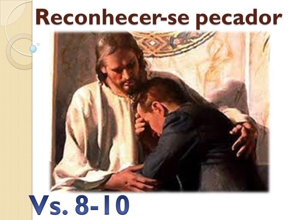 Reconhecer-se pecador