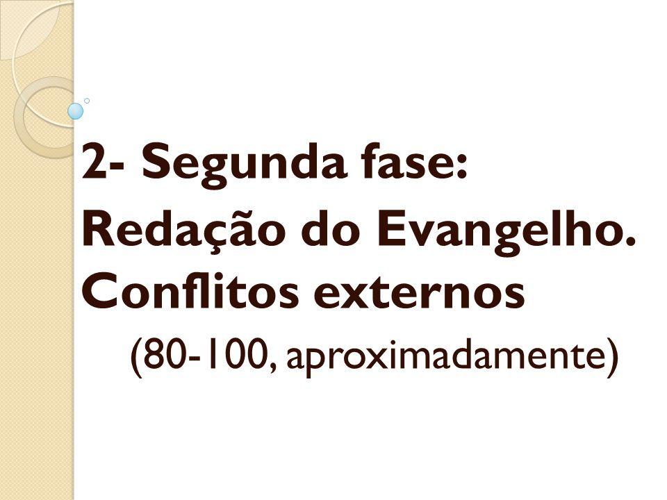 Redação do Evangelho. Conflitos externos