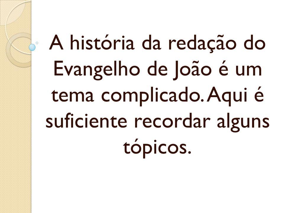 A história da redação do Evangelho de João é um tema complicado