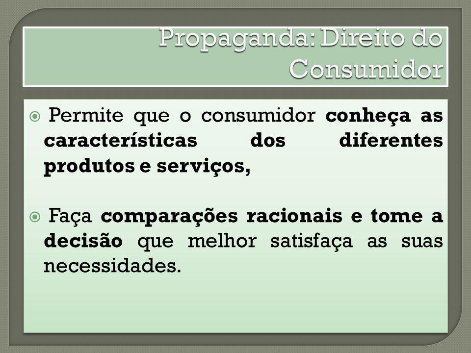 Propaganda: Direito do Consumidor