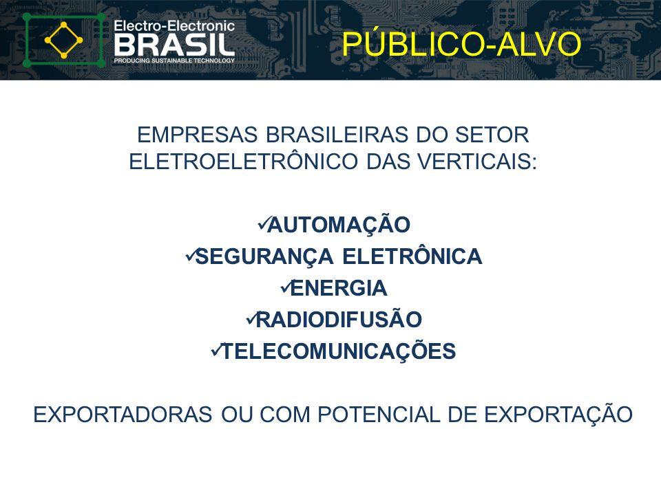 PÚBLICO-ALVO EMPRESAS BRASILEIRAS DO SETOR ELETROELETRÔNICO DAS VERTICAIS: AUTOMAÇÃO. SEGURANÇA ELETRÔNICA.