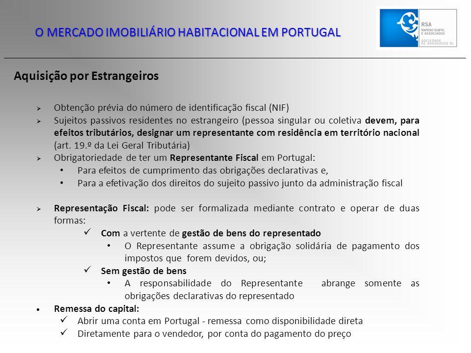 O MERCADO IMOBILIÁRIO HABITACIONAL EM PORTUGAL