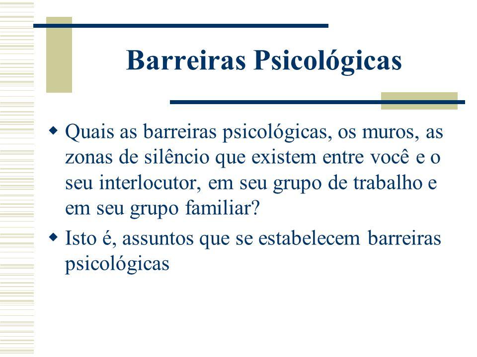 Barreiras Psicológicas