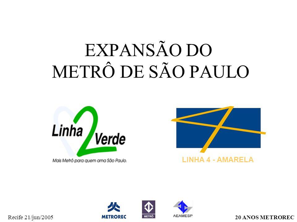 EXPANSÃO DO METRÔ DE SÃO PAULO