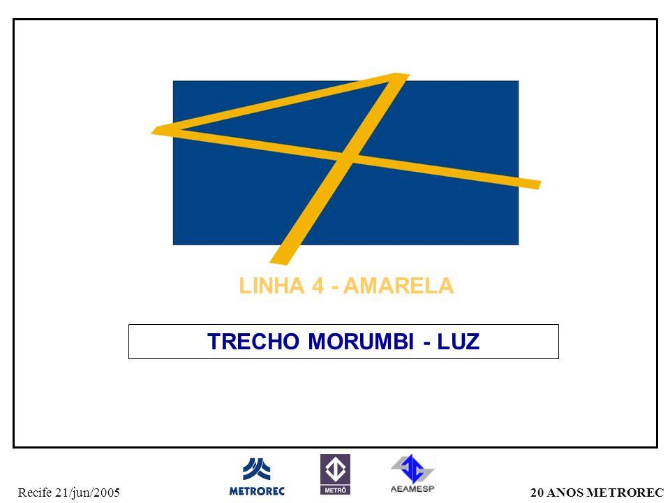LINHA 4 - AMARELA TRECHO MORUMBI - LUZ
