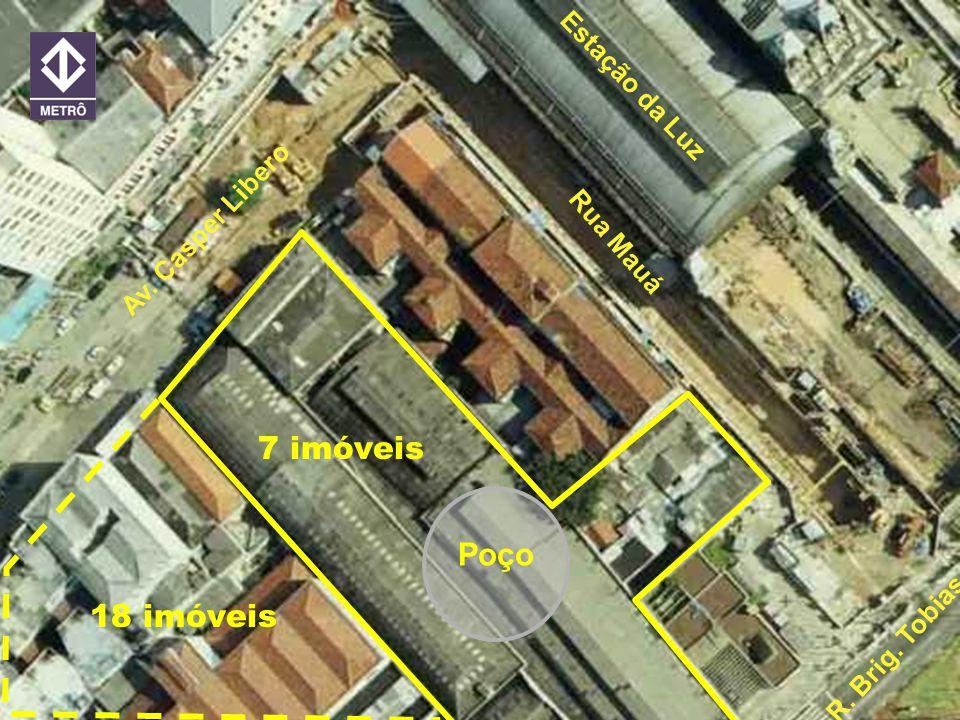 7 imóveis Poço 18 imóveis Estação da Luz Av. Casper Libero Rua Mauá