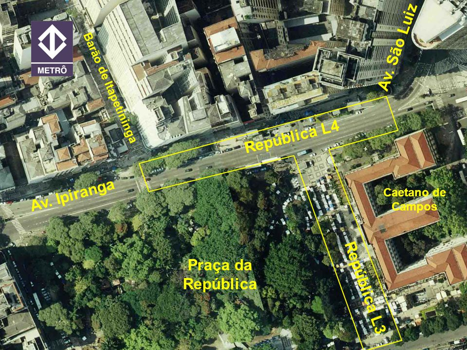 Av. São Luiz República L4 Av. Ipiranga Praça da República República L3