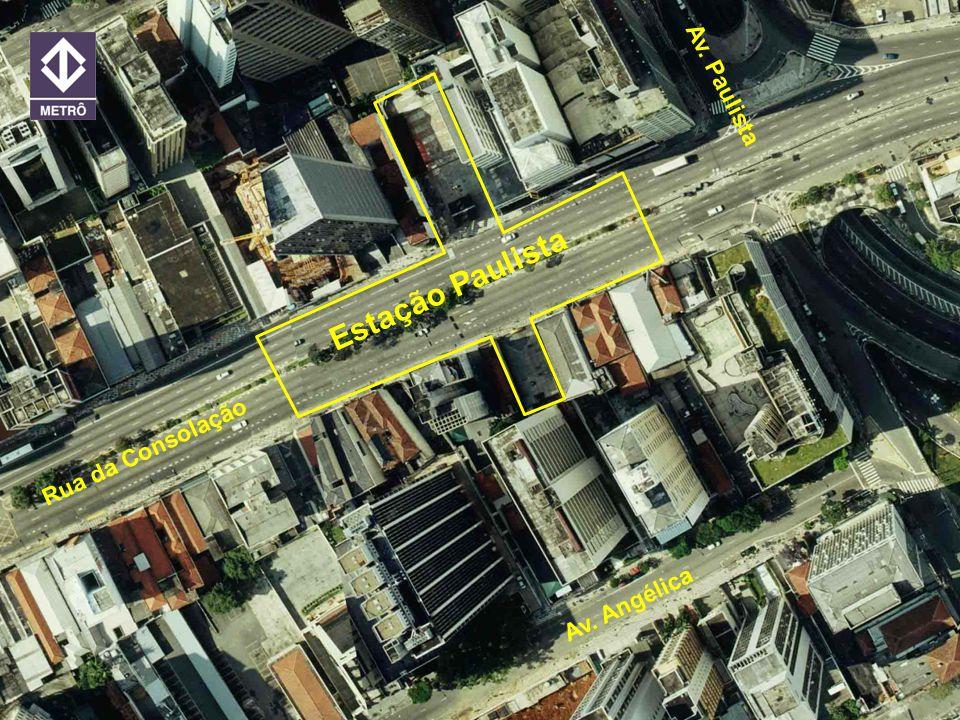 Estação Paulista Av. Paulista Rua da Consolação Av. Angélica