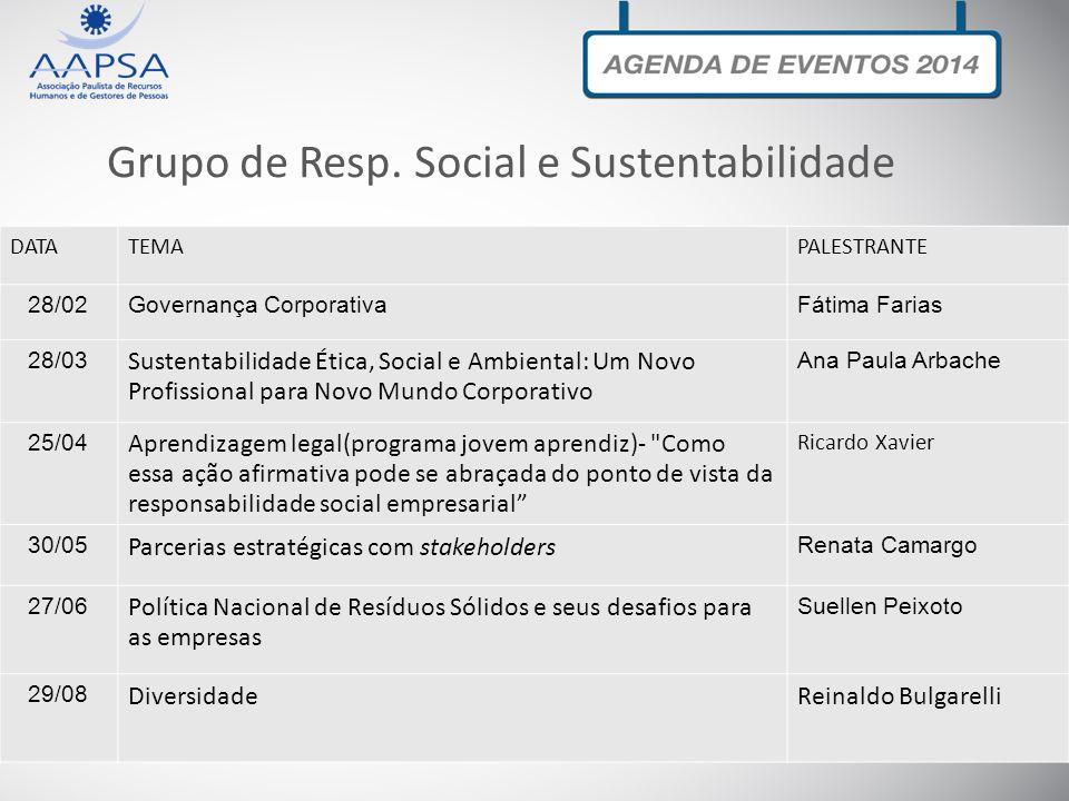 Grupo de Resp. Social e Sustentabilidade