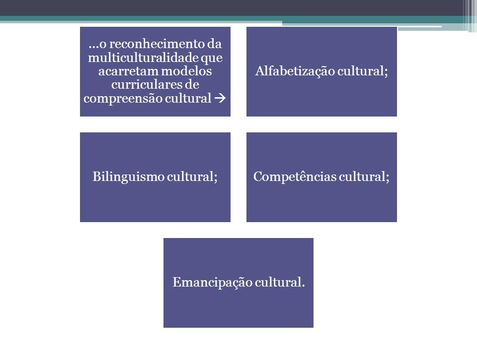 Alfabetização cultural; Bilinguismo cultural; Competências cultural;