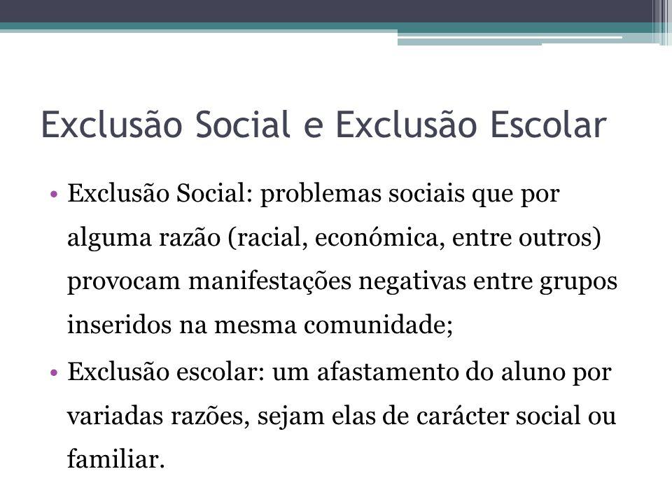 Exclusão Social e Exclusão Escolar