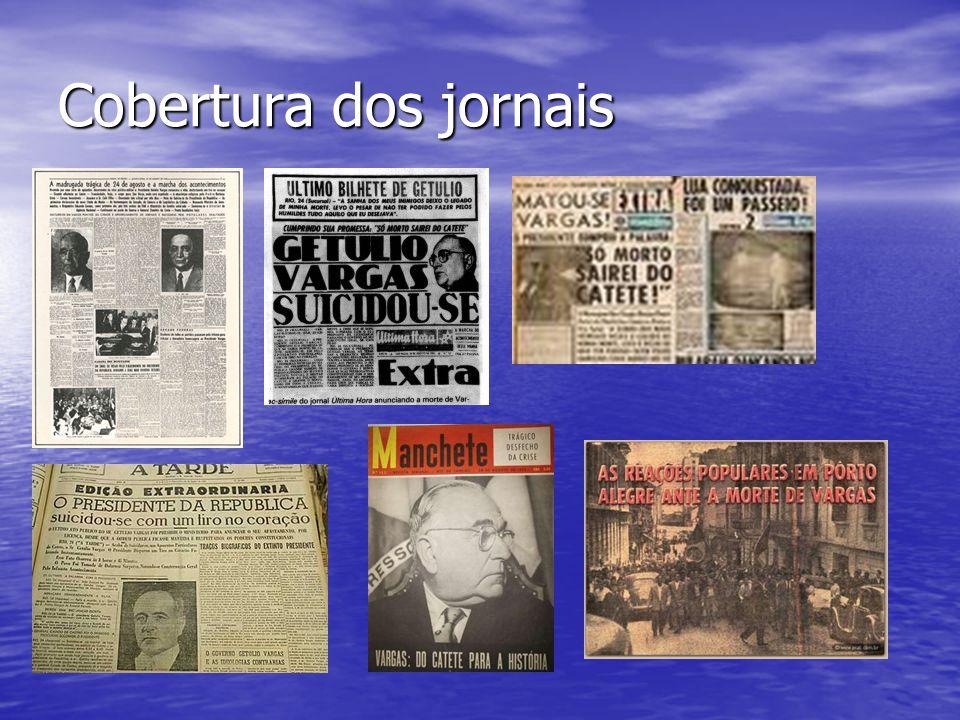 Cobertura dos jornais