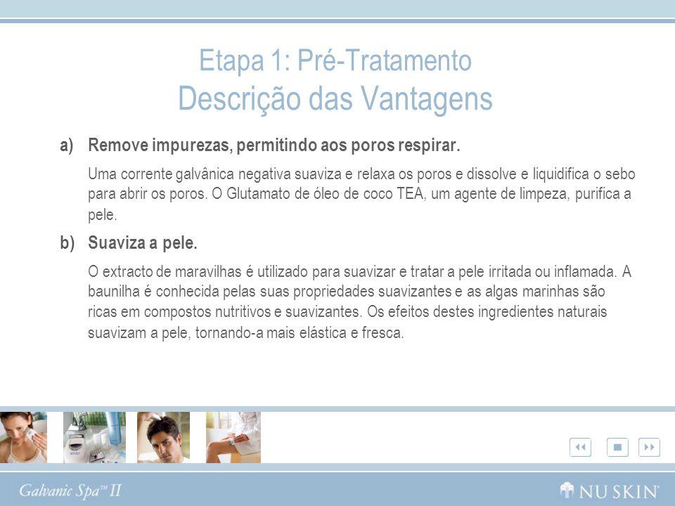 Etapa 1: Pré-Tratamento Descrição das Vantagens