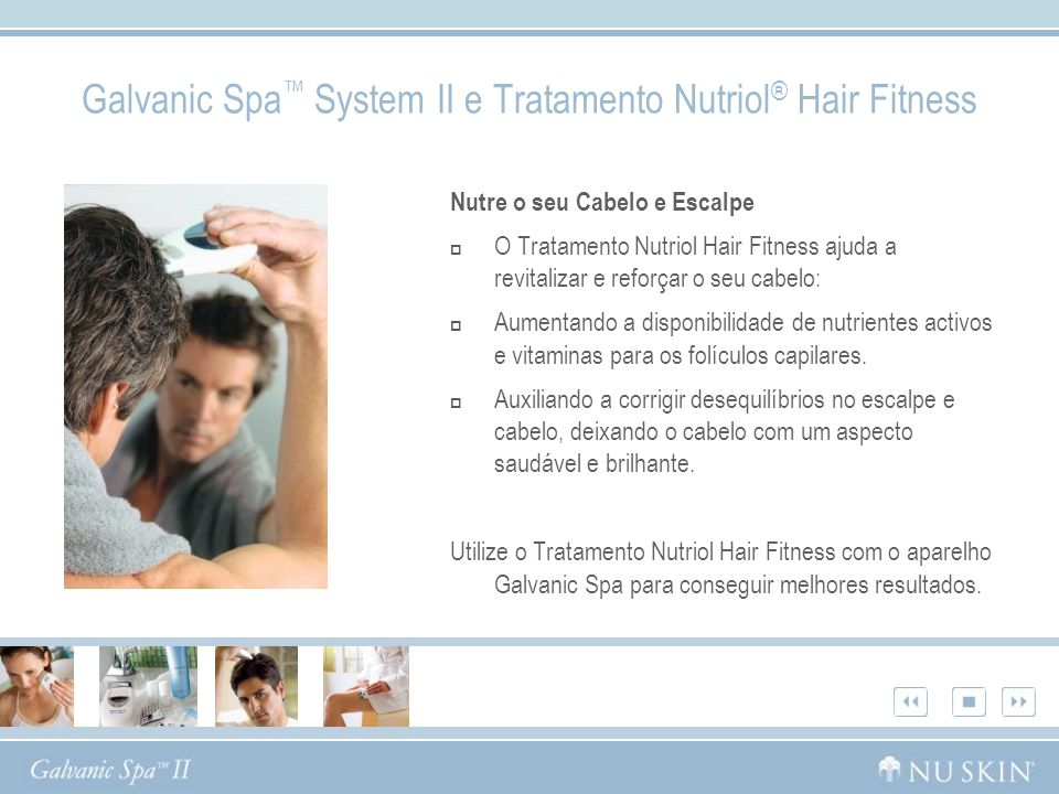 Galvanic Spa™ System II e Tratamento Nutriol® Hair Fitness