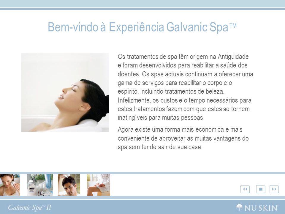 Bem-vindo à Experiência Galvanic Spa™