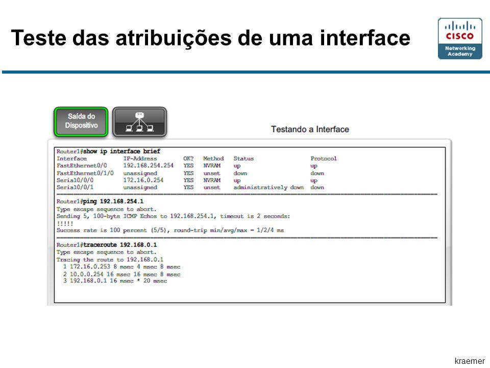 Teste das atribuições de uma interface