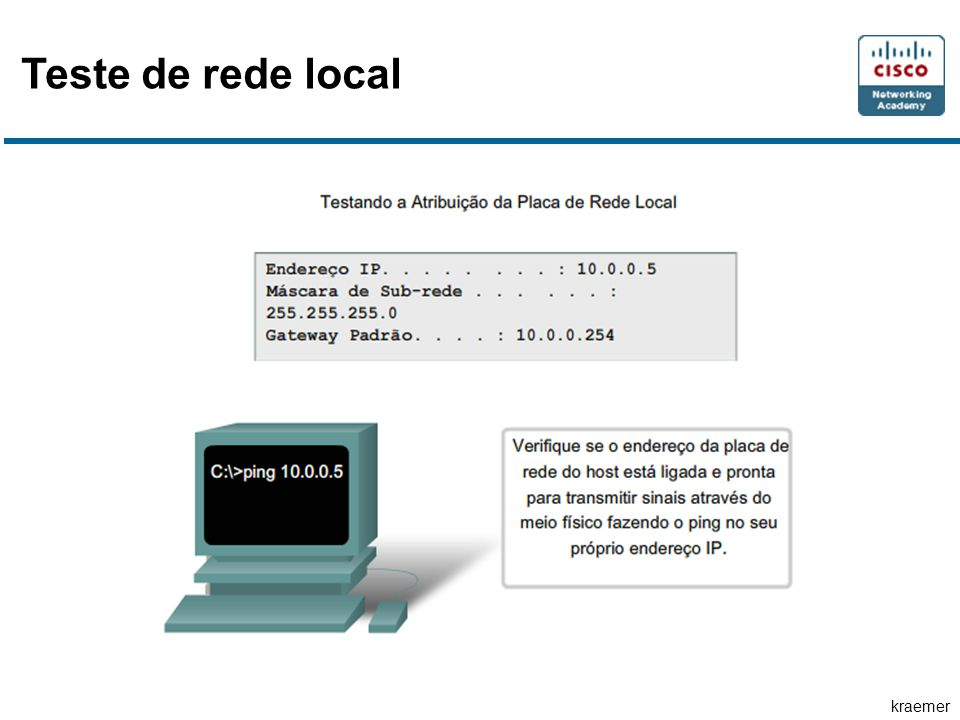 Teste de rede local