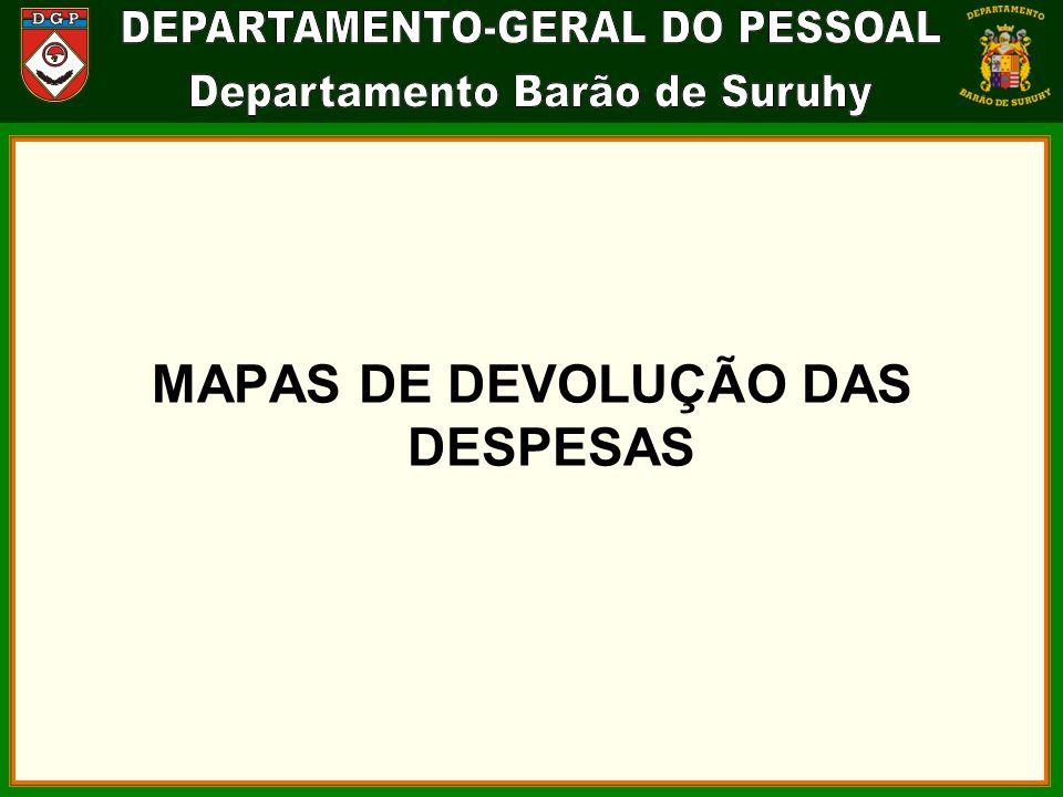 MAPAS DE DEVOLUÇÃO DAS DESPESAS