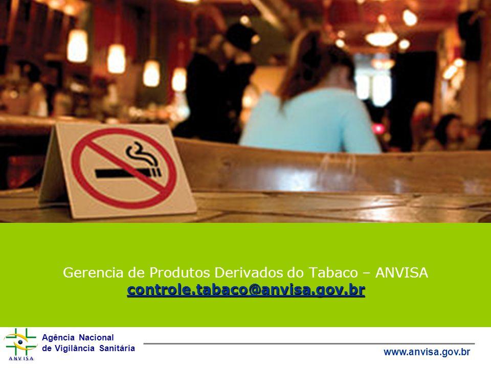Gerencia de Produtos Derivados do Tabaco – ANVISA controle
