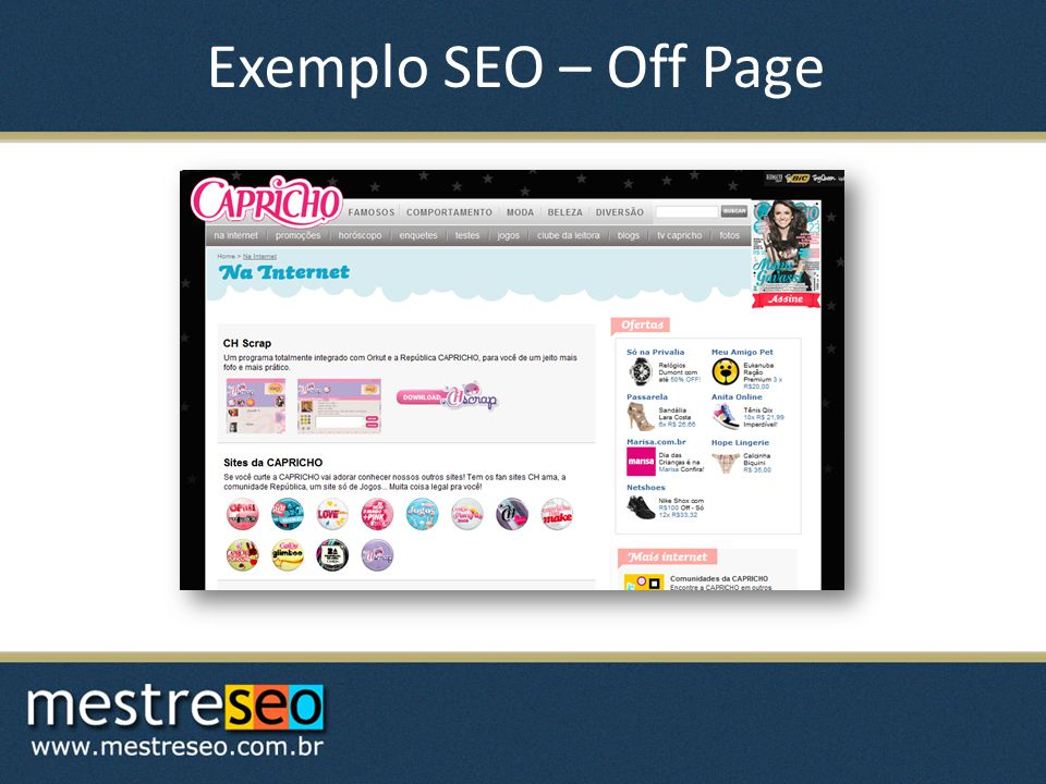 Exemplo SEO – Off Page