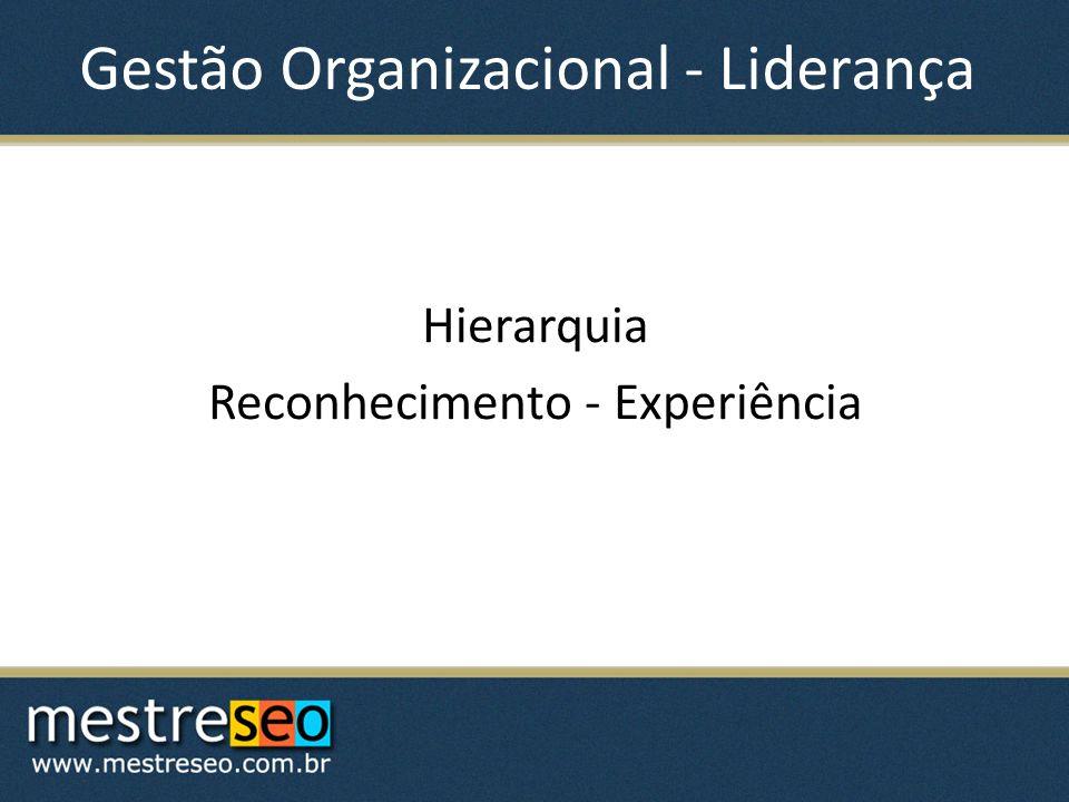 Gestão Organizacional - Liderança