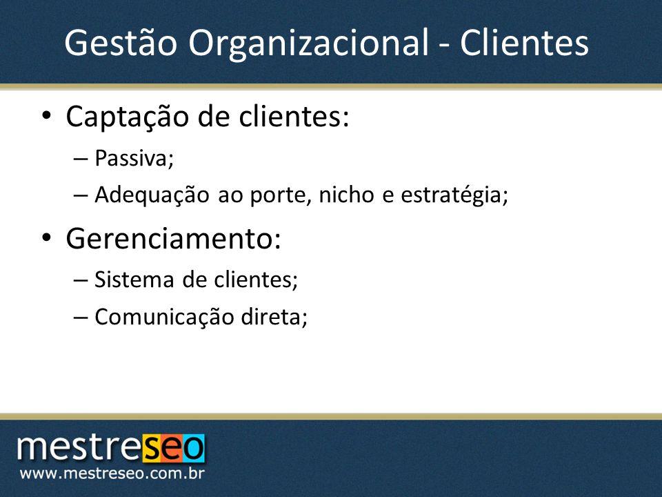Gestão Organizacional - Clientes