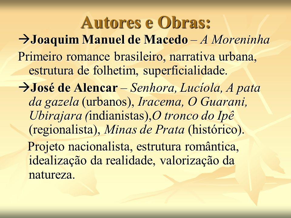 Autores e Obras: Joaquim Manuel de Macedo – A Moreninha