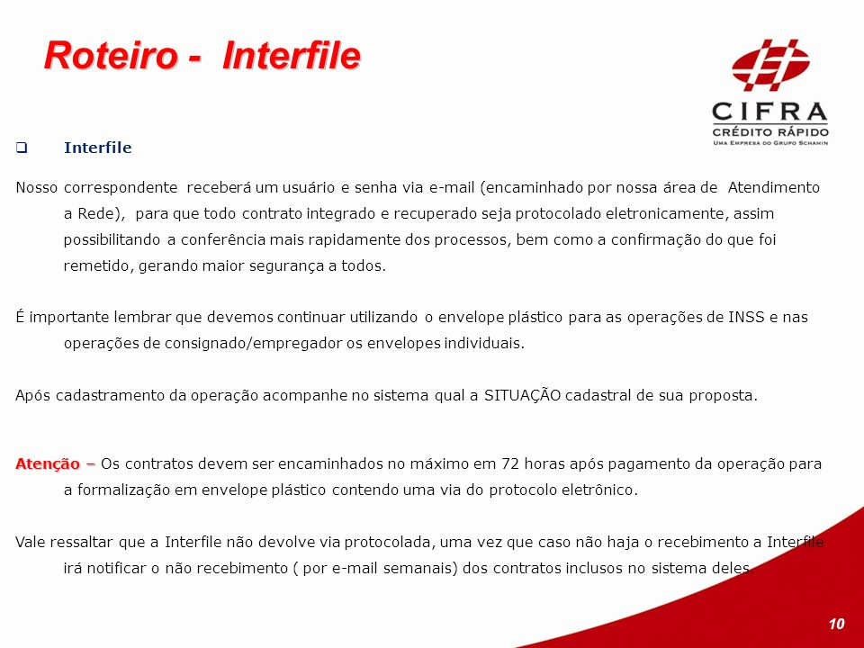 Roteiro - Interfile Interfile