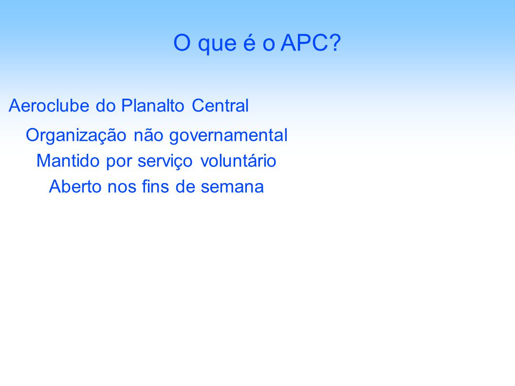 O que é o APC Aeroclube do Planalto Central
