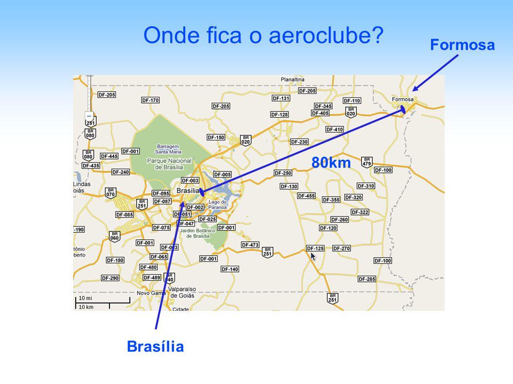 Onde fica o aeroclube Formosa 80km Brasília