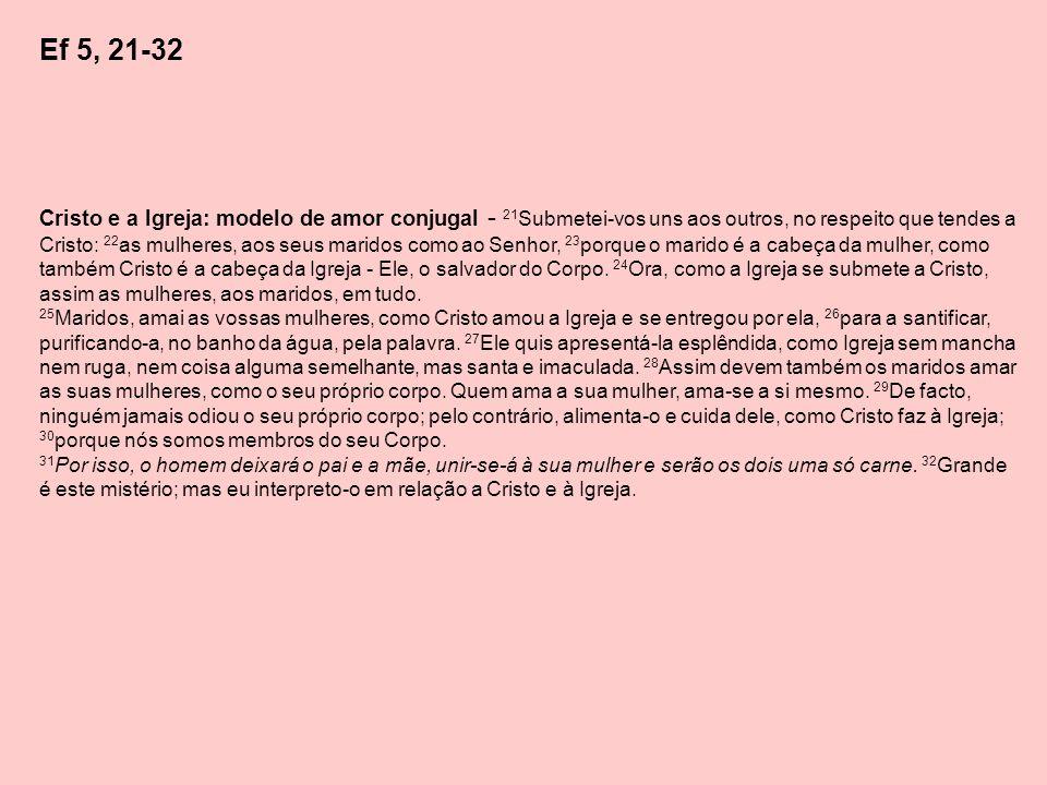 Ef 5, 21-32