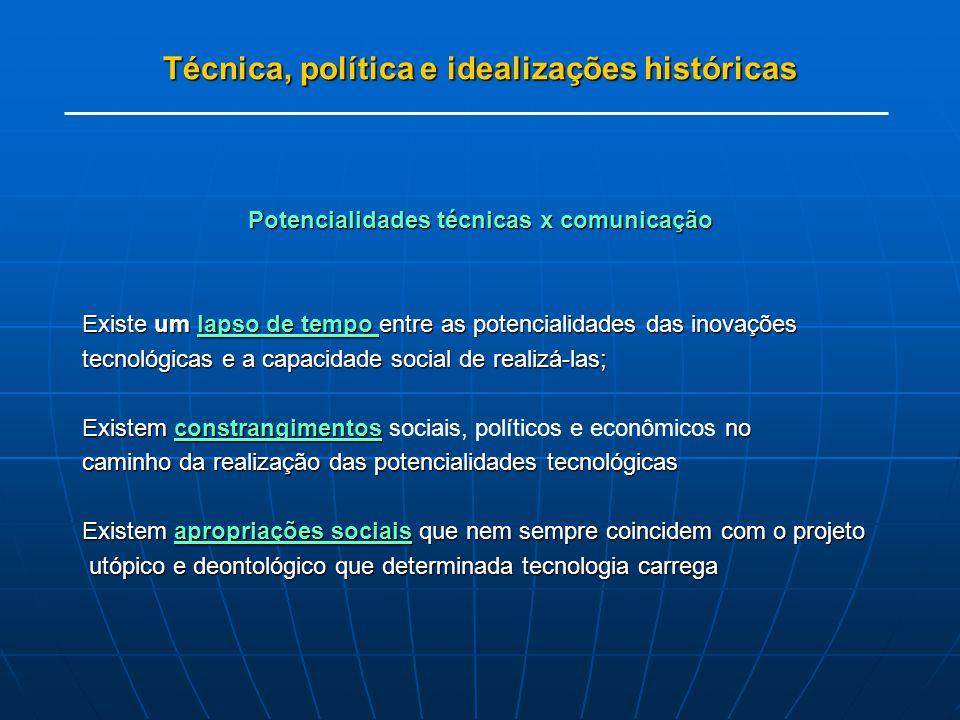 Técnica, política e idealizações históricas
