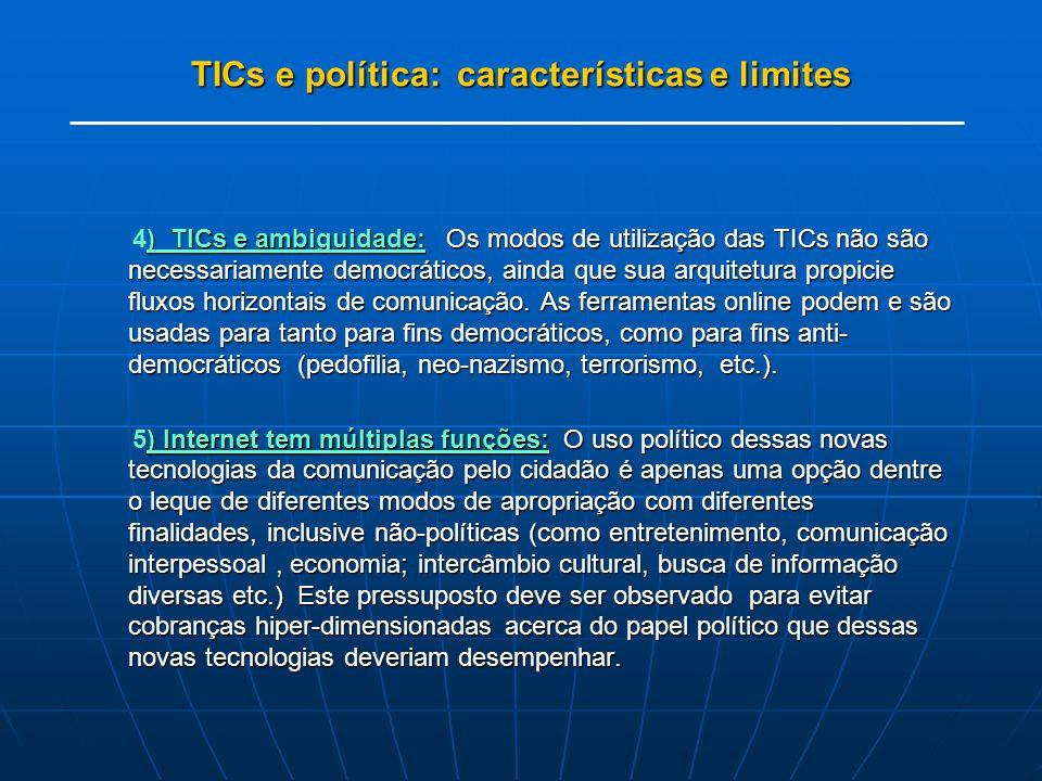 TICs e política: características e limites