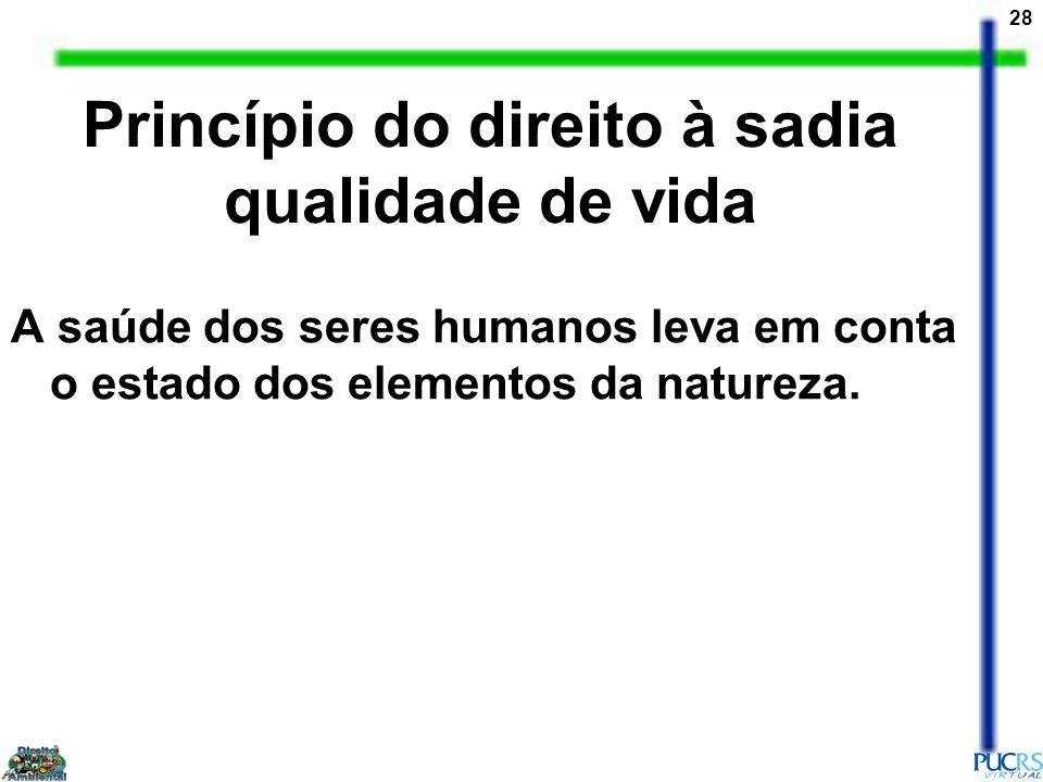 Princípio do direito à sadia qualidade de vida