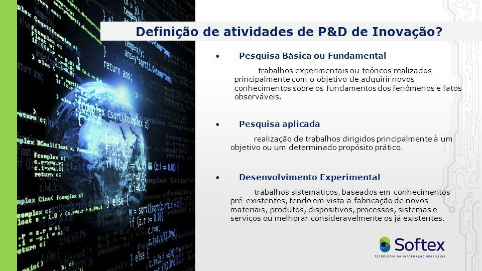 Definição de atividades de P&D de Inovação