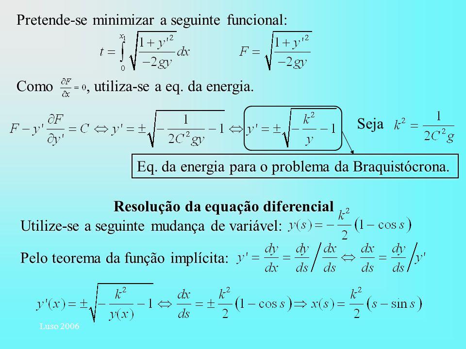 Resolução da equação diferencial