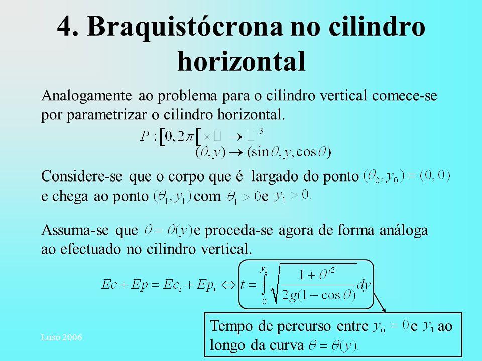 4. Braquistócrona no cilindro horizontal