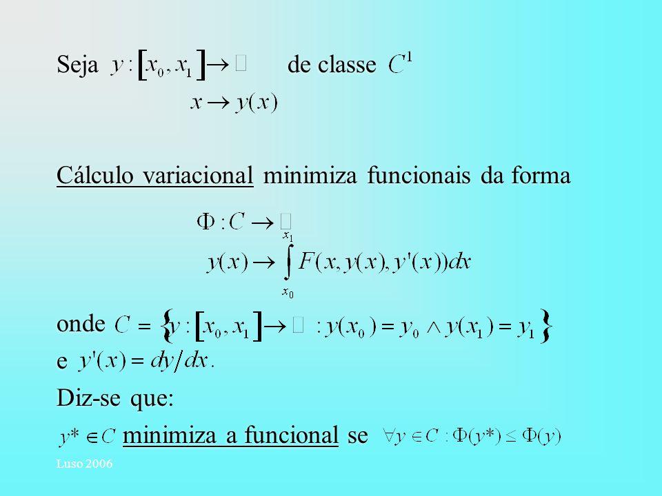 Cálculo variacional minimiza funcionais da forma