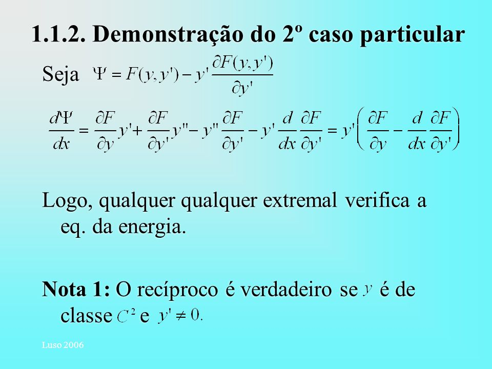1.1.2. Demonstração do 2º caso particular