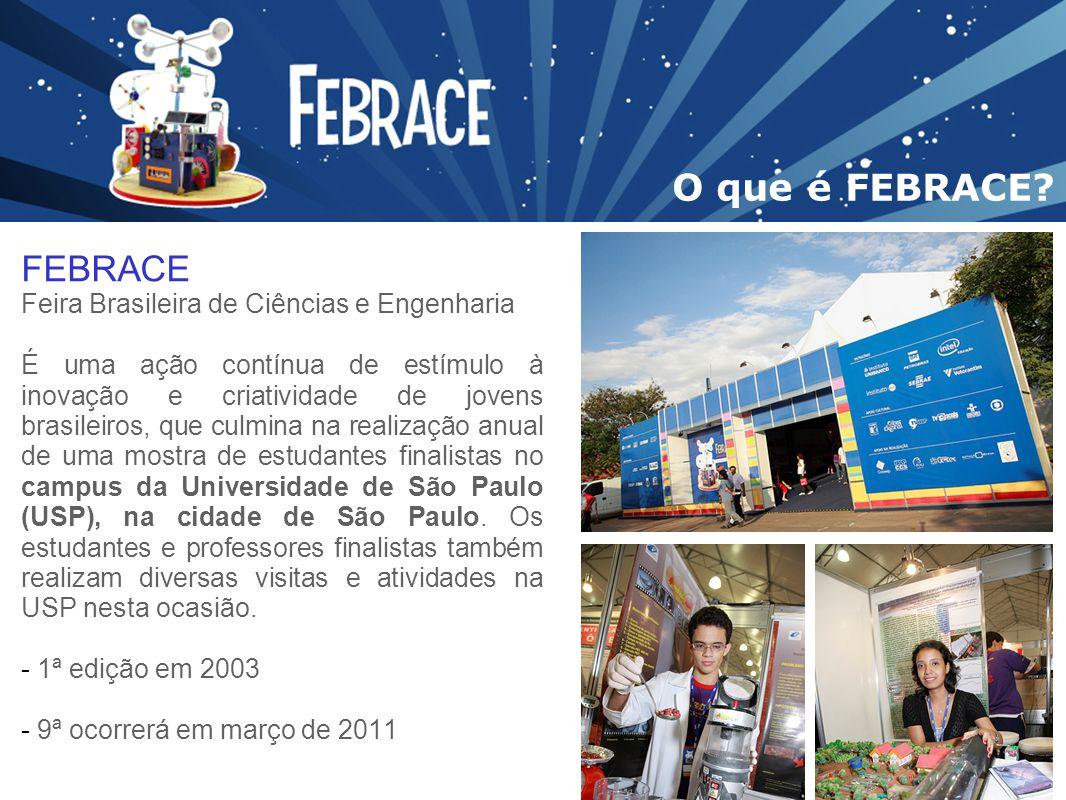 O que é FEBRACE FEBRACE Feira Brasileira de Ciências e Engenharia