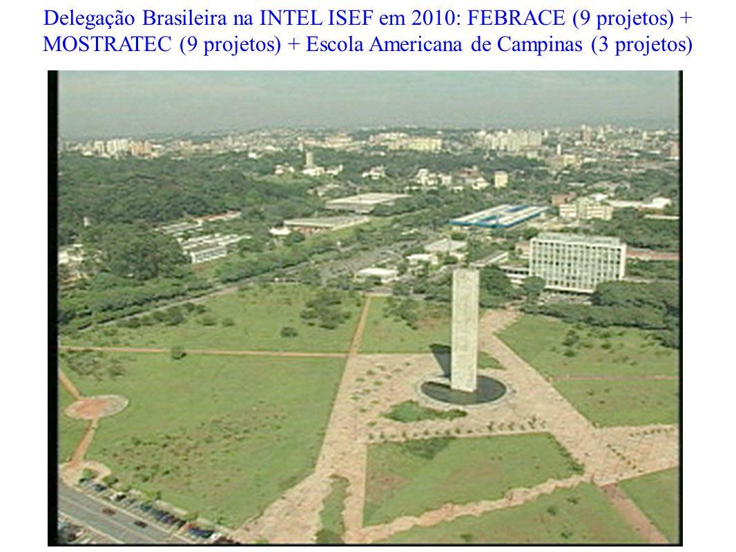 Delegação Brasileira na INTEL ISEF em 2010: FEBRACE (9 projetos) +