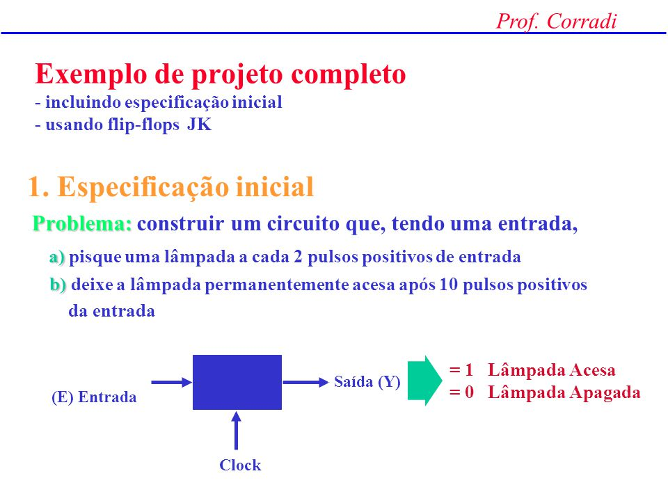 1. Especificação inicial