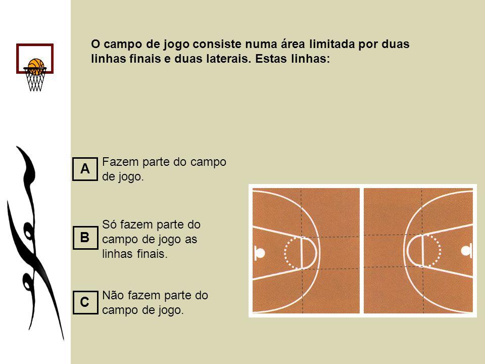 O campo de jogo consiste numa área limitada por duas linhas finais e duas laterais. Estas linhas: