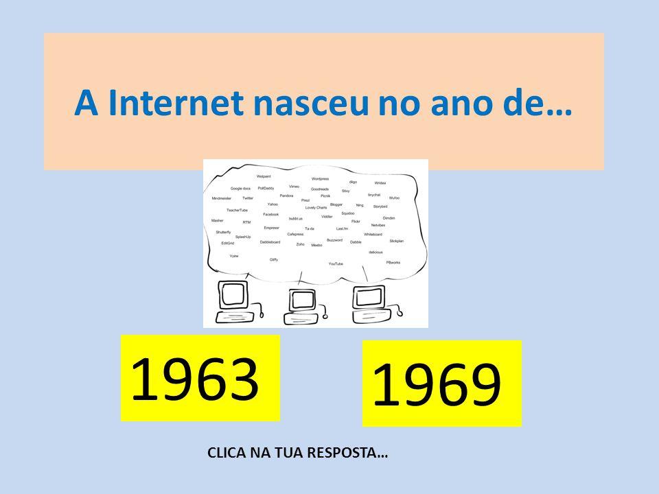 A Internet nasceu no ano de…